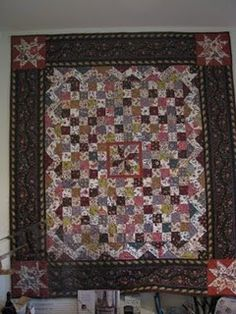 Dutch Chintz Quilt - a historical pattern for Dutch Chintz fabric