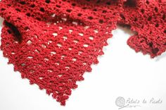 Pretty Lacy Shawl Crochet Pattern with beaded edging