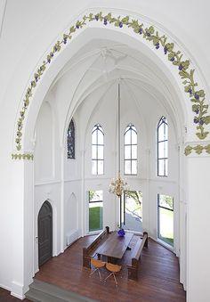 Extraordinary 'Saint Jakobus Church' rehabilitation projectby the architects Zecc in Utrecht, Netherlands.