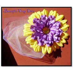 Purple Gold flower  Alligator hair Clip by beautifulswagstore, $6.00 #hmcspooky #handmadebot #boebot