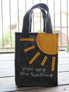 Mini Reusable Felt Gift Bag by simpleoctober on Etsy, $4.50