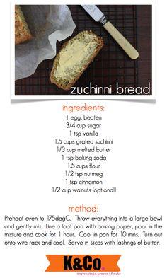zuchinni bread change a few ingredients and gluten free!