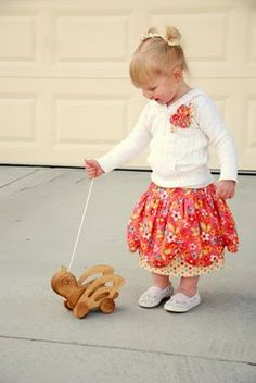 scalloped skirt tute.  This loooks way cute, The girls may get two skirts for Easter.