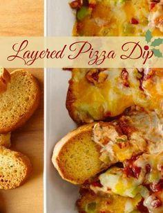 Layered Pizza Dip ~ the recipe