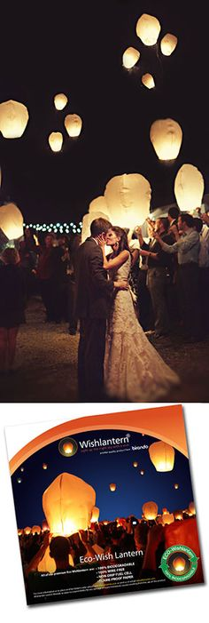 Sky Lanterns would be so amazing to have at your wedding