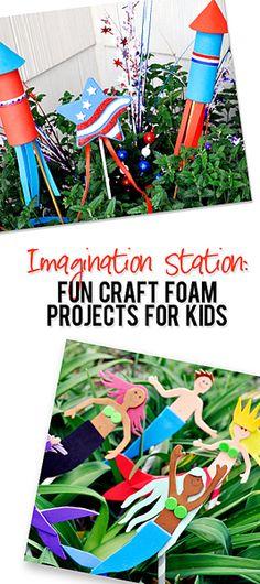 Imagination Station Fun Craft Foam Projects for Kids howdoesshe.com #kidscrafts