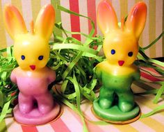 Vintage Gurley Bunny Candles Beautiful colors by AHopelessRomantic