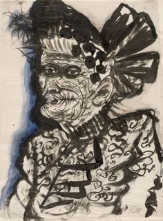 """Otto Dix, """"Old Woman"""" (c 1923), Art Institute of Chicago, gift of Dorothy Braude Edinburg to the Harry B. and Bessie K. Braude Memorial Coll..."""