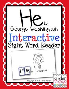 An emergent reader that's Perfect for Presidents Day!