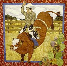 "Red Rider quilt pattern, 36 x 36"", by Sandra Coffman 