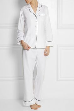 Olivia von Halle|Coco cotton-blend pajama set|NET-A-PORTER.COM