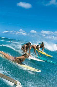 Old Roxy Ad, surfing Waikiki