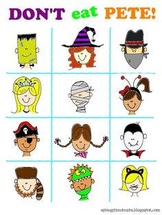 Don't eat Pete Halloween game and printables from Spring Time Treats!