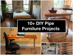 10+ DIY Pipe Furniture Projects