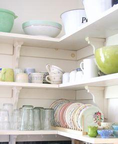 open shelves, kitchen shelves, pantri, plate racks, kitchen design