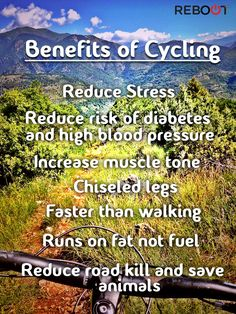 Benefits of cycling. #cycling #benefits