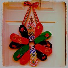 Flip flop wreath:)
