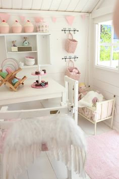 girl room, playhouse decoration, kids cubby house, inside playhouse ideas, girls playhouse