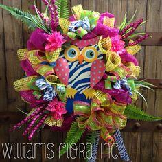Summer Owl Wreath via Etsy