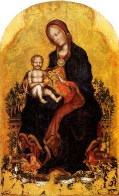 Gentile da Fabriano (Italian c. 1370–1427) [International Gothic] Madonna with Child.