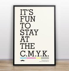 Typographic Joke Posters // C.M.Y.K
