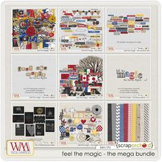 Feel The Magic - The Mega Bundle for pocket scrapbooking, digital scrapbooking, etc. Disney and Epcot