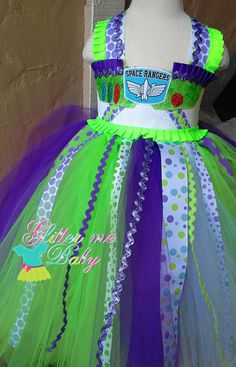 Buzz Lightyear Dress Buzz Lightyear Tutu Dress by GlitterMeBaby