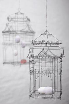 Wire Design Bird Cages - Set of 2