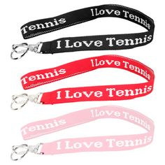Keep your keys handy with the I Love Tennis Lanyard. Available in multiple colors, this fun lanyard makes a great gift!