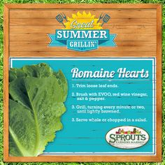 You'll 'heart' Romaine Hearts! ;) - Sprouts Farmers Market - sprouts.com #GreatGrilin