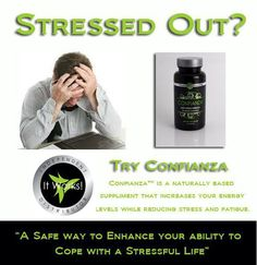 Confianza is a naturally based supplement that increases your energy levels while reducing stress and fatigue. Its special blend of herbs was developed to provide a safe way to enhance your ability to cope with all forms of stress: physical, emotional, or environmental.