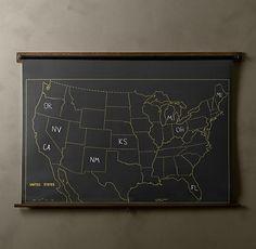 restoration hardware chalkboard map
