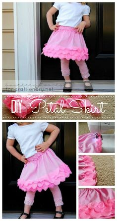 Give some flare to a simple skirt with petals #sewing #skirts