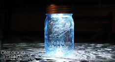 Blue Mason Jar Luminary – No DIY Required!