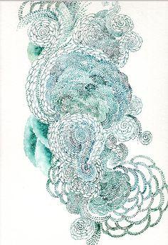 swirl, watercolor flowers, doodl, artist, lace patterns