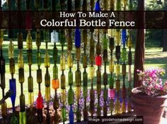 How to make a Colorful Bottle Fence