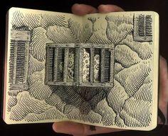 art moleskine, 3d sketch, journal pages, sketchbook, moleskin art, notebook art
