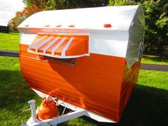 "Little GEM Bugg ""Orange Crush"" 1975 camper for sale in Warsaw, IN. So cute, check it out!"