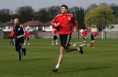 Steven Gerrard training hard at Melwood