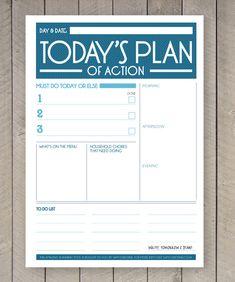 Printable Day Planner Organiser Agenda by SamOsborneStore on Etsy