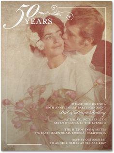 Tenderly Framed - Anniversary Invitations//