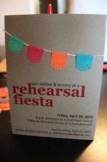 Rehearsal dinner fiesta invitation