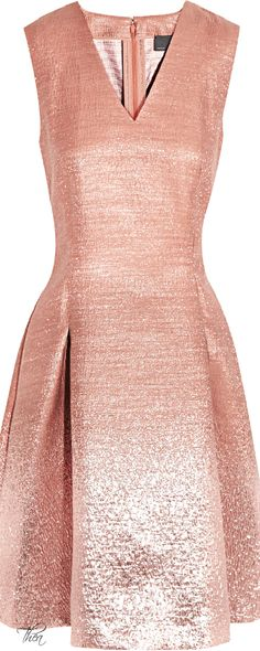 Fendi ● Pink Ombrãeffect Metallic Dress