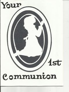 A simple First Communion Card by cardcapers on Etsy, $1.25