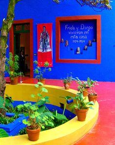 "Frida Kahlo's Casa Azul (""Blue House"") in Coyoacán, Mexico City"