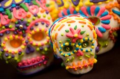 day of the dead decorated sugar skulls