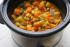 Slow Cooker Root Vegetable Stew - Vegan dish, delicious!