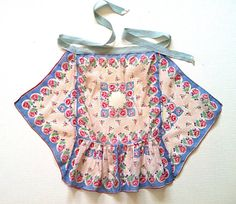 Vintage Hankie Apron 1940s Blue and Pink by NonabelleVintage