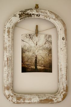 Cute way to use an old frame.