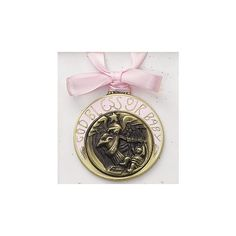 Crib Medal - Pink (Engravable), $18.95 | The Catholic Company  Crib medals make the perfect baptism gift!
